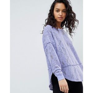 Free People Not Cold In This Lace Top - Purple